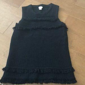 J. crew Factory sleeveless fringe sweater